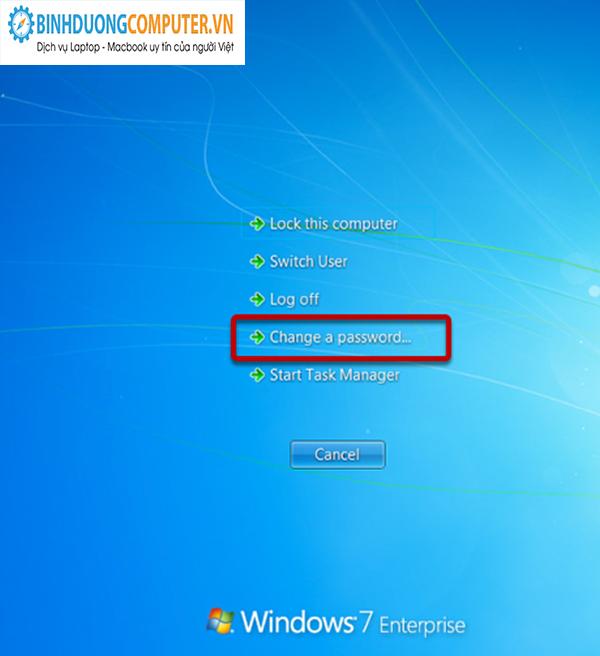 Sửa lỗi  không đặt được password cho windows
