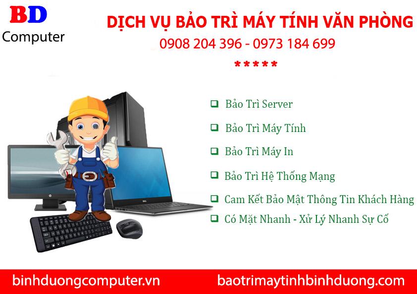 Bảo trì máy tính tại nhà Bình Phước