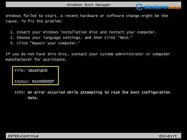 Khắc phục lỗi 0xc000000f hay lỗi MBR khi cài windows 7 như thế nào?