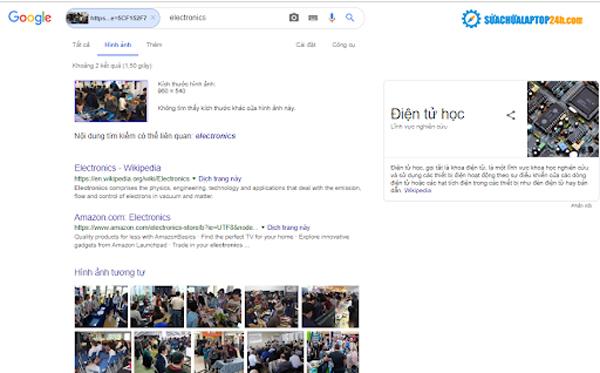 Tìm kiếm hình ảnh chia sẻ ở facebook trên Google