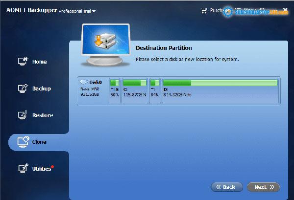 Chọn ổ SSD của bạn và xác nhận lựa chọn của bạn