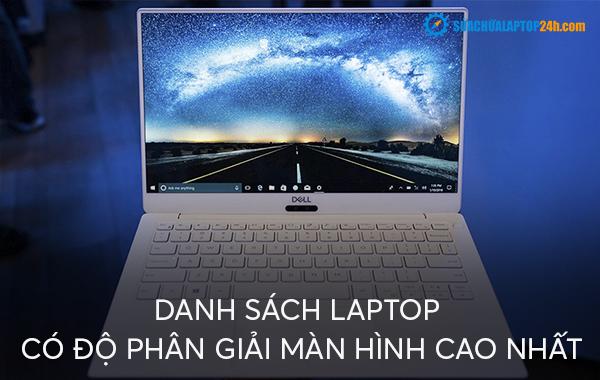 Danh sách laptop có độ phân giải màn hình cao nhất
