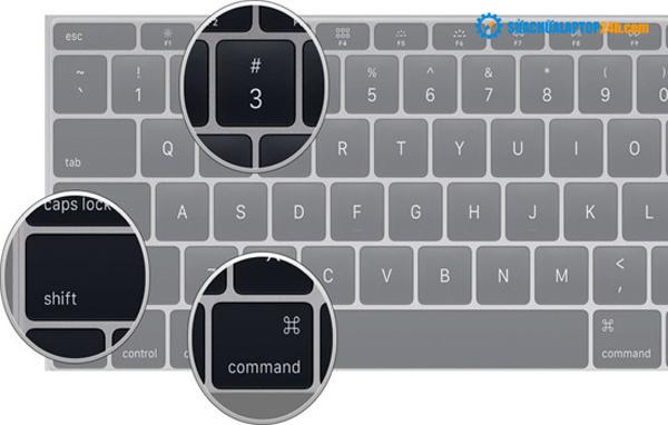Nhấn tổ hợp phím Command + Shift + 3 để chụp toàn màn hình